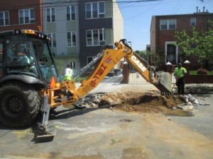 Digging in the street