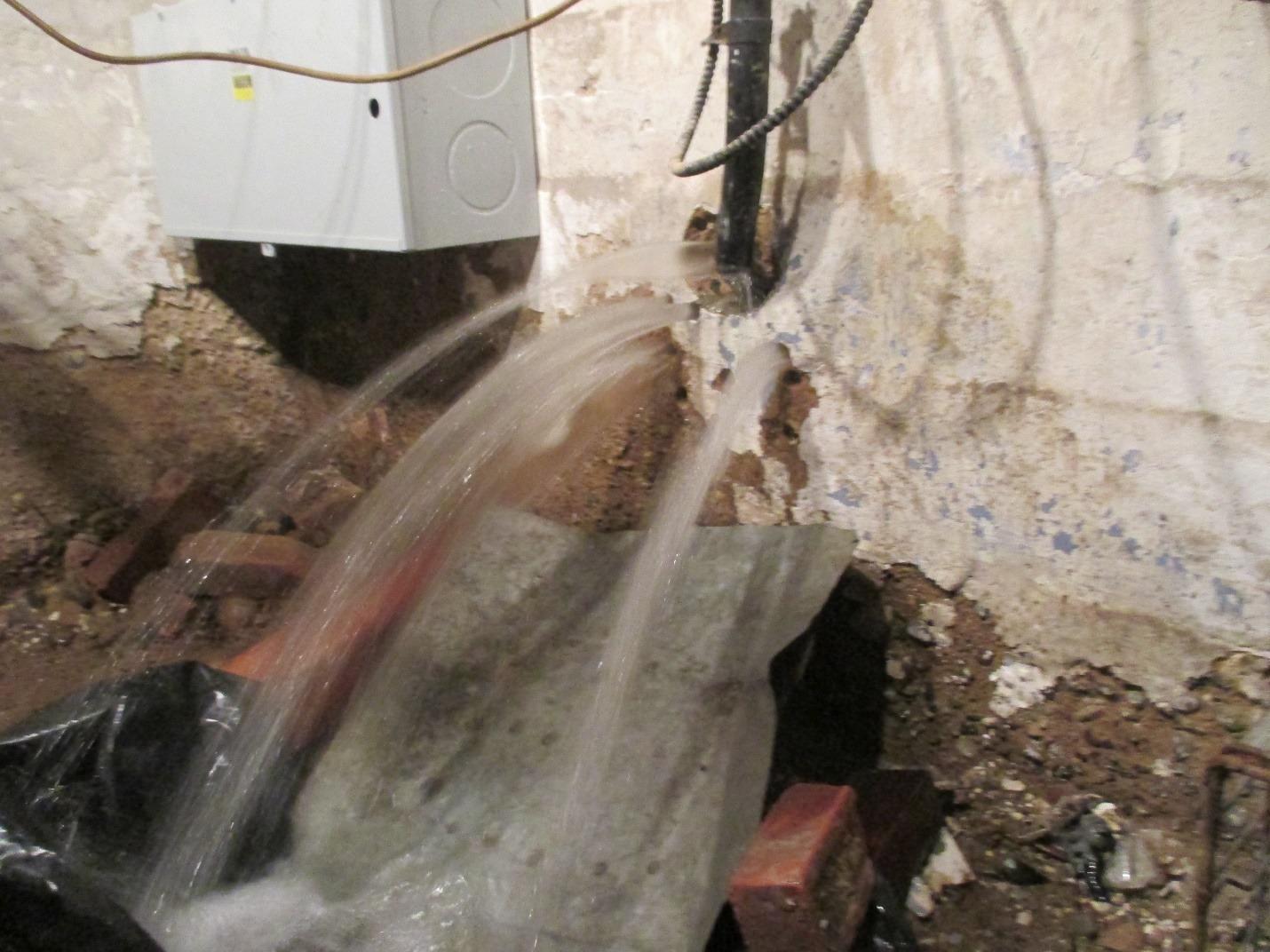 Water leaking inside home