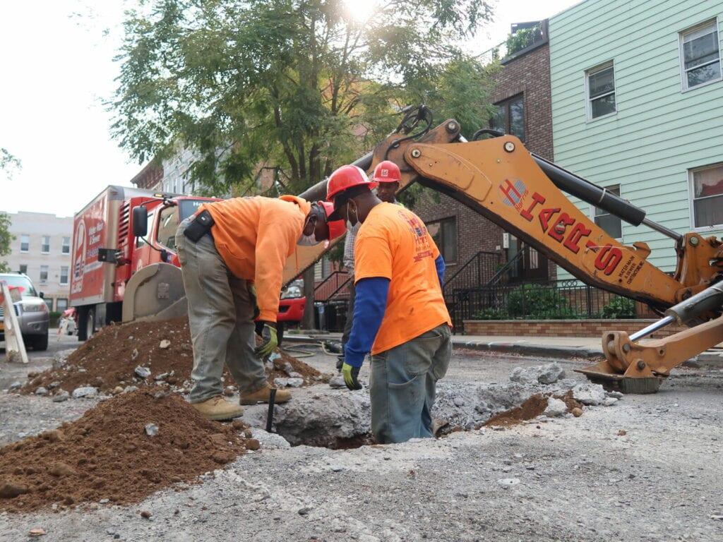 Water main repair in Brooklyn