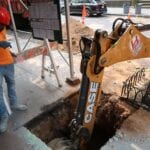 Dig for new sewer line in NYC