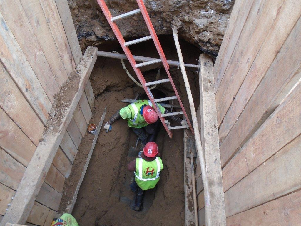 Installing new sewer line in NYC